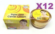 12 pcs White Rose Super Gold Caviar Whitening Cream Reduce Blemish Melasma