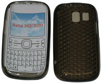 Pattern Gel Jelly Case Cover Protector Pouch For Nokia Asha 302 / 3020 Black New