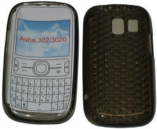 For Nokia Asha 302 / 3020 Pattern Gel Jelly Case Cover Protector Pouch Black New