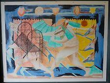 Original signed Fulgencio Lazo lithograph El Torito Serano