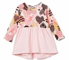 Girls BABY NAY pink hearts boutique dress 12 18 months NWT cotton tunic shirt
