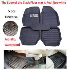 5pcs Car Floor Mats FloorLiner Front&Rear Universal Carpet Anti-Slip Leather Mat