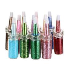 12pcs Bottle Mix Color Glitter Dust Powder Set for Nail Art Tips DIY Decoration