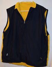 Gap mens  reversable vest size XL yellow and blue