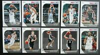 2019-20 Panini NBA Hoops San Antonio Spurs Base Team Set of 10 Basketball Cards