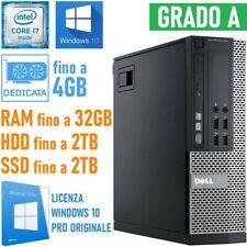 COMPUTER DESKTOP PC DELL OPTIPLEX 990 SFF I7 2600 RS232 WINDOWS 10 PRO-