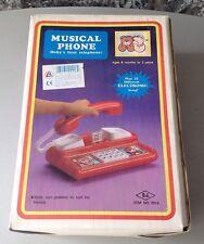 Vintage 80S# Ales Al Es Musical Phone# Nib  Electronic Pre School Phone