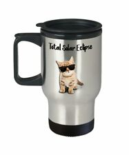 Cat Solar Eclipse Travel Mug - Total Solar Eclipse - Cat Solar Eclipse Mug -...