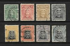 1913 King George V SG187 to SG272 set of 8 stamps Admirals Fine Used RHODESIA