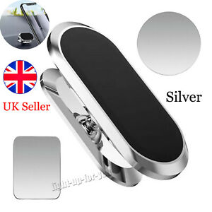 Silver Magnetic in Car Mobile Phone Holder Mount For iPhone Samsung Rotating 360