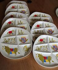 8 assiettes a fondue salins France pommard