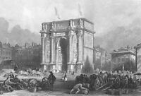 France MARSEILLES ANCIENT ROME VICTORY ARCH OF TRIUMPH, 1865 Art Print Engraving