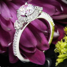 Ring For Women In 925 Silver Gorgeous 2.90Ct White Round Moissanite Engagement