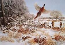 Father and Son Hunters, Beagles Hunting Pheasant and Rabbit by Kuhn