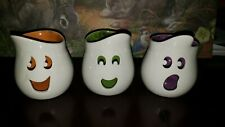 PartyLite #P9063 Retired Ghouly Tealight Trio Halloween Ghosts Candle Holders