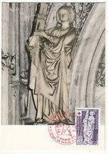 CARTE MAXIMUM FDC 1976 TIMBRE N° 1910 CROIX ROUGE EGLISE DE BROU SAINTE BARBE