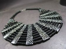 N5341 Bold HUGE Ethnic Tribal Gypsy Massive Collar Bib Bone Tibetan Necklace