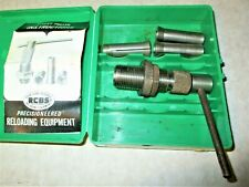 RCBS BULLET PULLER WITH 3 COLLETS.