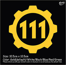FALLOUT 4 VAULT 111 Styled Reflective Car Truck  Sticker Window Decal Best Gift-