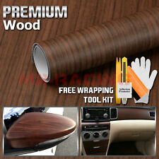 "*48""x120"" Wood Grain Vinyl Wrap Sticker Car Home Kitchen Desk Decoration #1551"