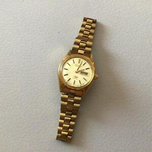 Vtg Citizen Gold Tone Automatic 21 Jewels Wristwatch Water Resistant #565