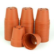 TEKU 2 in. Terra Cotta Plastic Pots (Pack of 100)