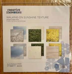 Creative Memories Walking On Sunshine Texture Paper Pack ~ New Promo Exclusive