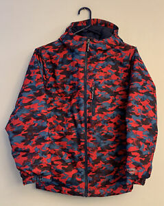 Columbia Youth Boys Medium Red/Blue Omni-Heat Coat Jacket Hooded Outgrown