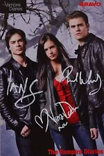 THE VAMPIRE DIARIES - Autogrammkarte - Signed Autograph Nina Dobrev Paul Wesley