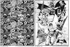 Superhero Posters Wonder Woman Batman vs Superman Black White Coloring Art 18x24