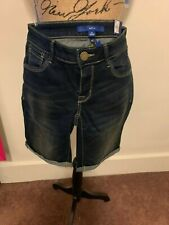 Apt. 9 Women 420 Medium Wash and 400 Dark Wash Bermuda Shorts  Reg. $36