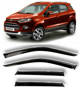 Chrome Trim Window Visors Guard Vent Deflectors For Ford EcoSport 2014-