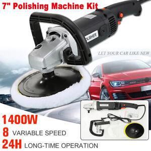 1400W Electric Car Polisher Kit Buffer Sander Variable Speed Polishing Machine