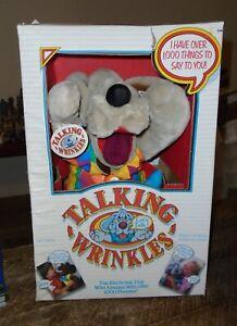TALKING WRINKLES PLUSH PUPPET WORKING GANZ BROS 1986