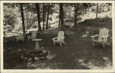 Bristol NH Fieldstone Grill Lawn Terrace Real Photo Postcard