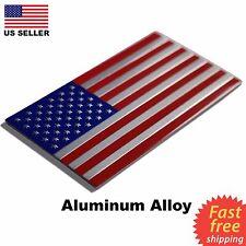 """ALUMINUM US Flag Sticker 3D Emblem Decal Patriotic Auto, Car, Truck 3.15""""x1.75"""""""