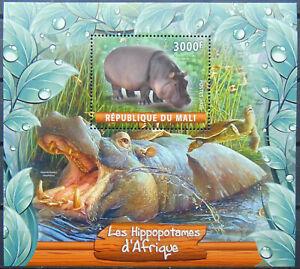 HIPPOS of Africa wild animals African fauna 2020 s/s MNH #ML20-36