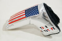 NEW SILVER USA FLAG STARS TOUR PROTOTYPE PUTTER HEAD COVER FOR SCOTTY CAMERON