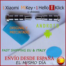(2uds) 1 XIAOMI MIKEY + 1 HELLO KLICK (Con Clip) - ANDROID BOTON - 100% ORIGINAL