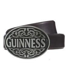GUINNESS Irish Stout Beer Metal Antique Silver Finish Belt Buckle