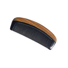 Comb 100% Natural Black Ox Buffalo Horn & Sandalwood Handle 13CM/15CM
