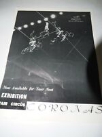 """THE CORONAS Europe's Greatest Highwire Act Fair CIRCUS Talent flyer 8.5"""" x 10.5"""""""