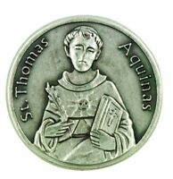 Academics Saint St Thomas Aquinas Pocket Token with Prayer Back, 1 1/8 Inch