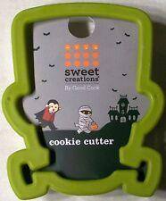Sweet Creations HALLOWEEN FRANKENSTEIN HEAD SOFT GRIP Plastic Cookie Cutter NEW