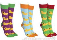 Novelty bright colour Rubber Duck design socks Unisex One Size stocking filler