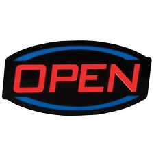 "9.5"" x 17"" Led Open Sign - Red Blue and Black"