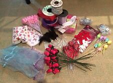 Job Lot Craft Bundle Diy Ribbon Hearts Eggs Roses Cards Gift Box Child Nursery X