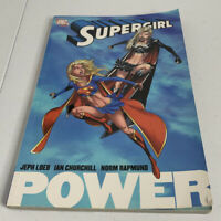"""DC Comics Supergirl """"Power"""" Trade Paperback Pre Owned TPB Loeb Churchill LOOK"""