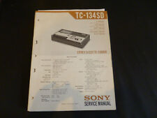 ORIGINALI service manual Sony tc-134sd