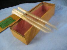 More details for morrells antique portable dip pen hand cut quill nib wooden sycamore shop box